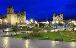 CUSCO PERU-NOV 9: Cattedrale di Santo Domingo novembre 9 2015 in Cusco Peru Building sono stati completati nel 1654, quasi cento  immagini stock
