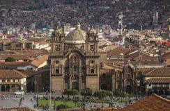 CUSCO PERU - NOVEMBER 08,2015: Iglesia de la Compania de Jesus royaltyfri fotografi