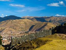 Cusco and Sacsayhuaman Stock Image