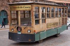 Cusco spårvagn Arkivbild