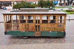 Cusco spårvagn Arkivfoto