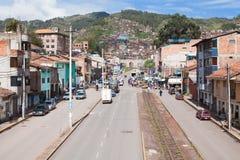 Cusco stadsliv Royaltyfri Fotografi