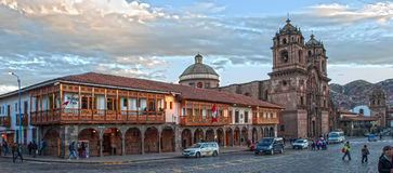 Cusco. Typical architecture in the moddle of the town Stock Photography