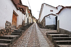 Cusco up hill Royalty Free Stock Images