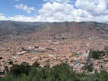 Cusco view. Panorama view  of Cusco, Peru Stock Images
