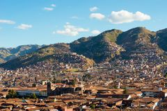 Cusco. View of the centre of Cusco, Peru royalty free stock photo