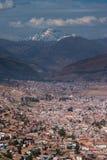 Cusco z śniegi zakrywającymi Andes Zdjęcie Royalty Free