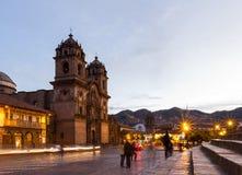 Cuscokathedraal na zonsondergang Royalty-vrije Stock Fotografie