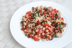 Cuscus salad with vegetables Stock Photo