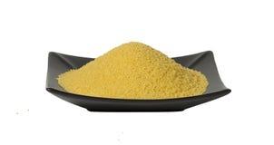 Cuscus, texture de millet, d'isolement Image stock