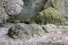 Cushendun Caves, County Antrim Stock Images