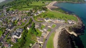 Cushendall Village Glens of antrim Co Antrim Northern Irelan stock photo