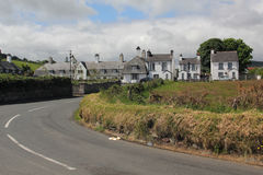Cushendun village, Ireland. Street in the Cushendun village, on the County Antrim coast royalty free stock photography