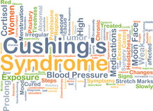 Cushing's syndrome background concept Royalty Free Stock Photo