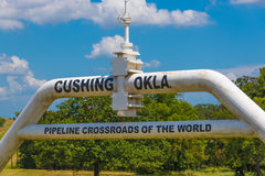 Cushing Oklahoma Oil Pipeline Stock Photography