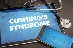 Cushing's syndrome (neurological disorder) diagnosis medical con Royalty Free Stock Images