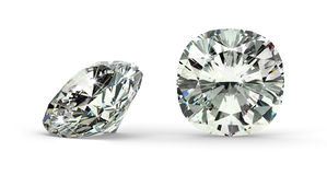 Cushion Cut Diamond Royalty Free Stock Image