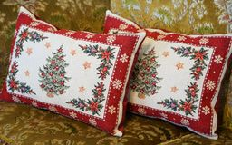 Cushion of the sofa. Cushion with the design of the sofa of the room stock photography