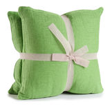 Cushion. Isolated. Soft cushion isolated over white stock photography