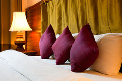 Cushion On The Bed Stock Photography