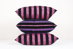 Cushion in pink and black Royalty Free Stock Photos