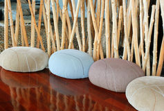 Cushion seat in quiet room for meditation royalty free stock photo