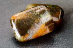 Cushion shaped jasper beads Royalty Free Stock Image