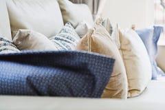 Cushion on sofa. Close up of cushion on sofa background royalty free stock photography