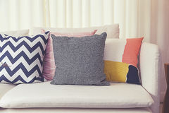 Cushion on sofa Stock Photography