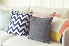 Cushion on sofa Royalty Free Stock Photography