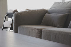 Cushion on sofa. Detail image of , modern living room royalty free stock image