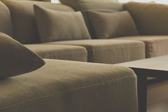 Cushion on sofa. Detail image of , modern living room stock photos