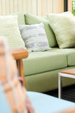 Cushion on sofa. Detail of modern living room,Cushion on sofa Royalty Free Stock Images