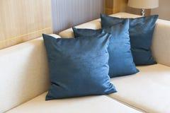 Cushion. On sofa at home royalty free stock image