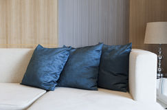 Cushion. On sofa at home royalty free stock photography