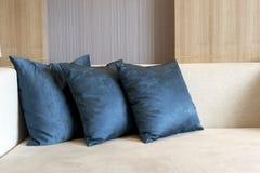 Cushion. On sofa at home royalty free stock photos
