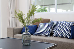 Cushion on sofa. At home royalty free stock photography