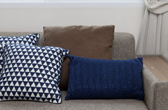 Cushion on sofa. At home royalty free stock images