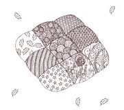 Cushion in zentangle style Stock Photos