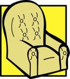 Cushioned armchair vector illustration royalty free illustration