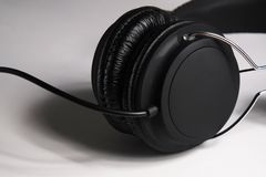 Cushioned Headphones Speakers Stock Image