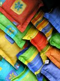 Cushions. Colourful cushions royalty free stock photo