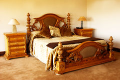 Cushions on the bed. Cushions on a bed in a guest lodge royalty free stock images