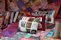 Cushions and Carpets shop Stock Images