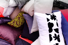 Cushions on a market stall Royalty Free Stock Photos