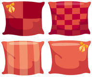 Cushions pillow. Illustration of isolated various cushions pillow on white background stock illustration