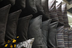 Cushions on the rack in the closet.  stock image