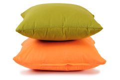 Cushions in a row. Isolated Stock Photography