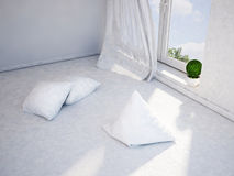 The cushions are scattered on the floor Royalty Free Stock Photos