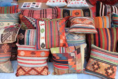 Cushions shop. In Istanbul, Turkey royalty free stock photo
